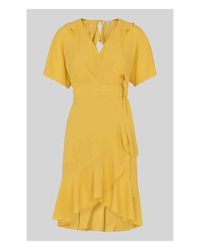 afa6033427 Abigail Frill Wrap Dress | Endource