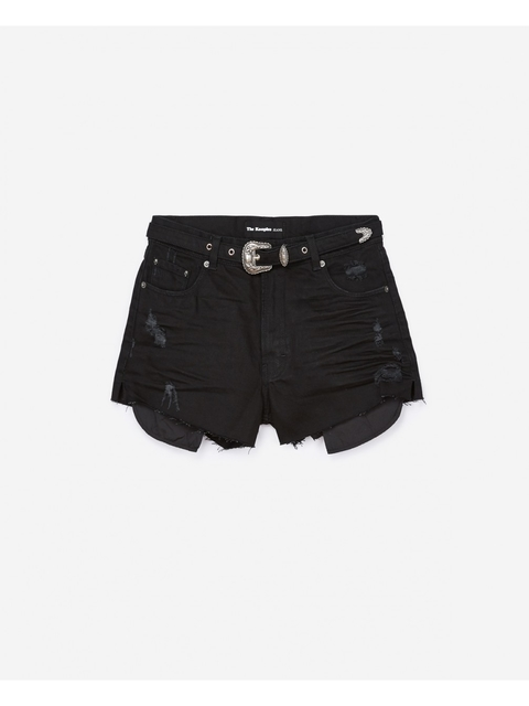 c3f1679a56 Denim Shorts with Rose Embroidery | Endource