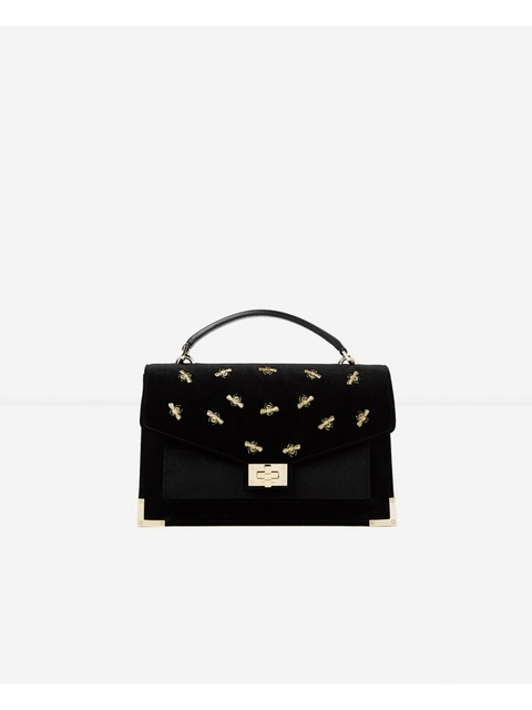 543558a78297 Medium Emily bag in Embroidered Velvet