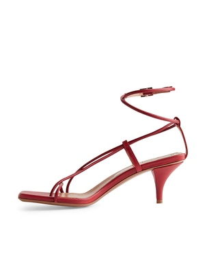 0fbb568a340 Mid-Heel Leather Strap Sandal by Arket