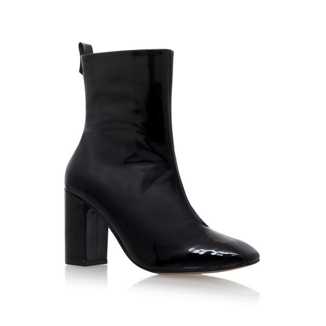 Strut Black Mid Heel Ankle Boots  83e2ce6e0