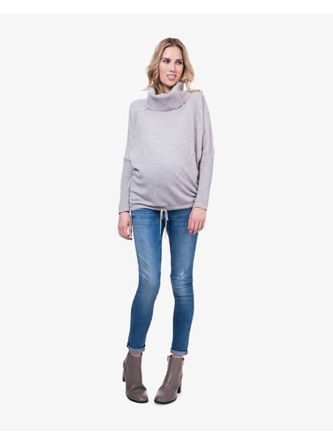 Eda Maternity Roll Neck Nursing Jumper  4453988e3