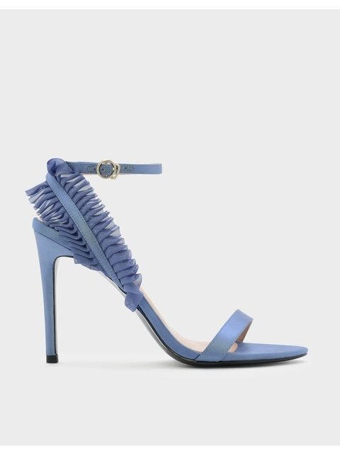 Ruffle Detail Ankle Strap Sandals