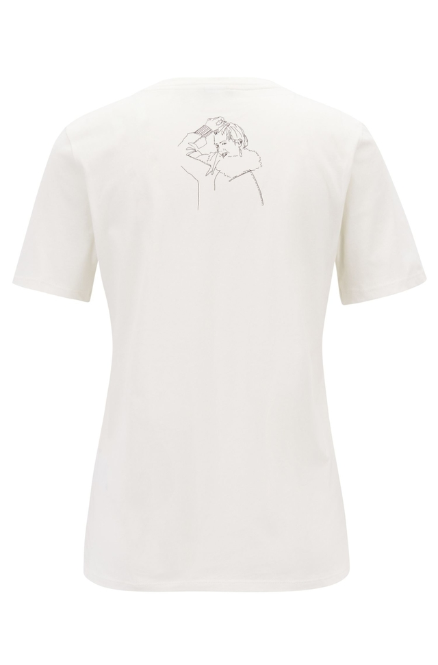 369ff4936 Cotton Jersey Hand-drawn Artwork T-shirt | Endource