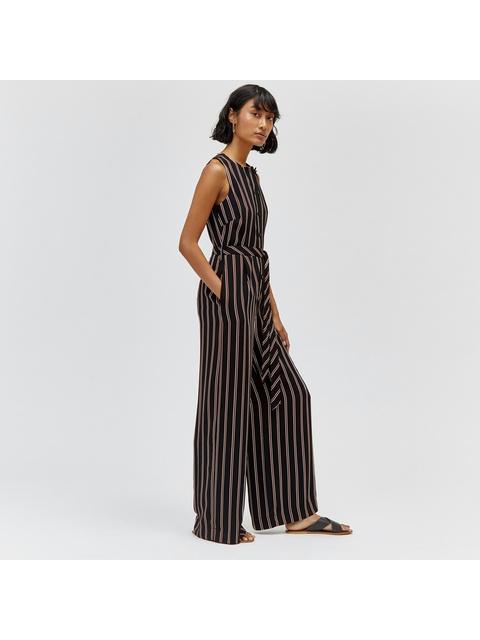 2ed52dc8e5f Button Up Stripe Jumpsuit