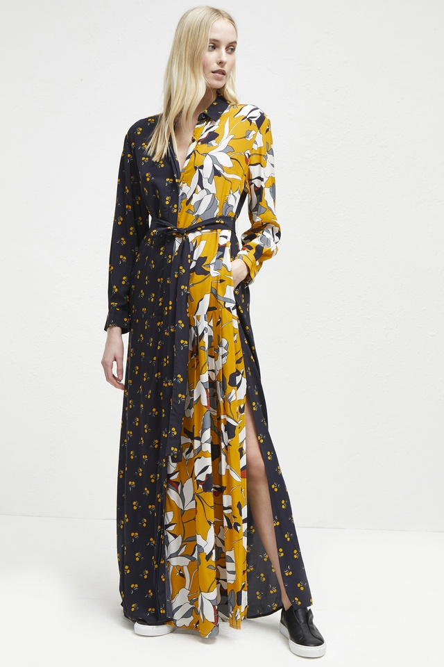 378f8380c94 Aventine Drape Maxi Shirt Dress
