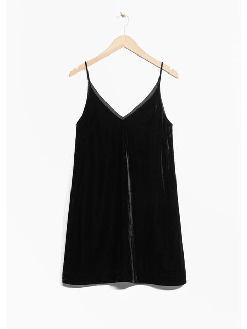 01503c06a272 Strap Velvet Dress