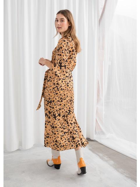 821f0eac02f Asymmetric Floral Midi Dress
