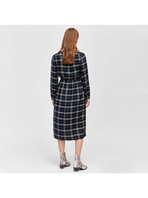b5fd11005d4148 Camille Check Midi Shirt Dress