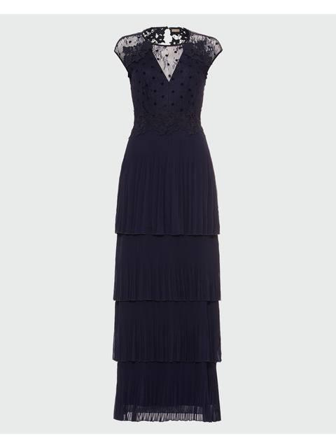 Oiriana Pleated Lace Dress Endource