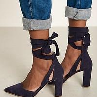 73009107d83 Emily Suede Ankle Tie Heel