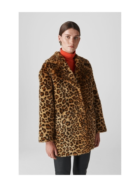 0feffe5bc8 Animal Faux Fur Cocoon Coat | Endource