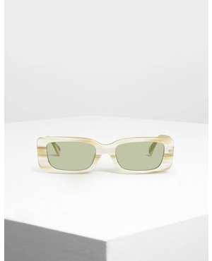 a186a7ec153 Thick Frame Rectangle Sunglasses by Charles   Keith
