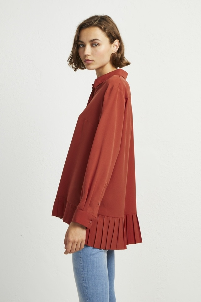 929d134b9b5 Crepe Light Pleat Shirt