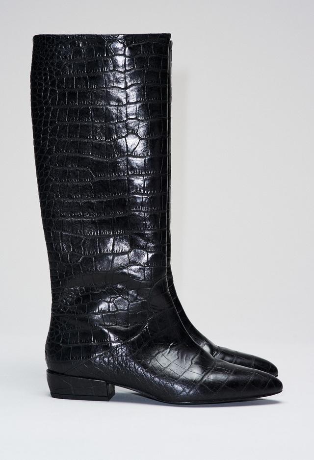 nouveau concept ce965 91a13 Croco Patterned Leather Boots