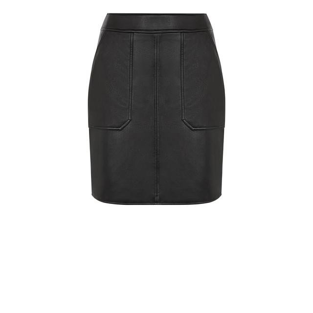 43cdc08799e Pocket Detail Pu Skirt | Endource