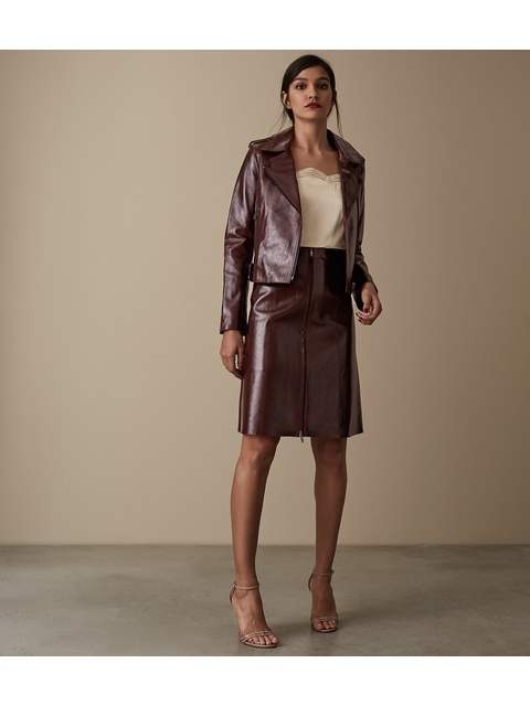 274c805bf2 Hanna Patent Leather Skirt