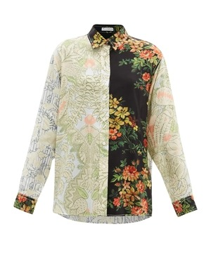 Patchwork Brocade and Floral Embroidered Blouses