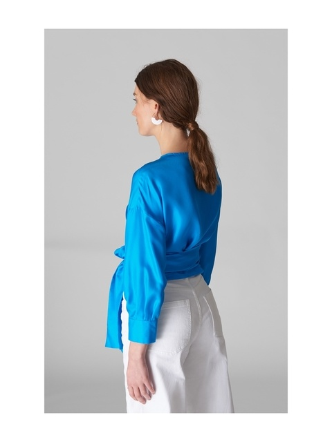 e8ebb24486a602 Serena Silk Wrap Top | Endource