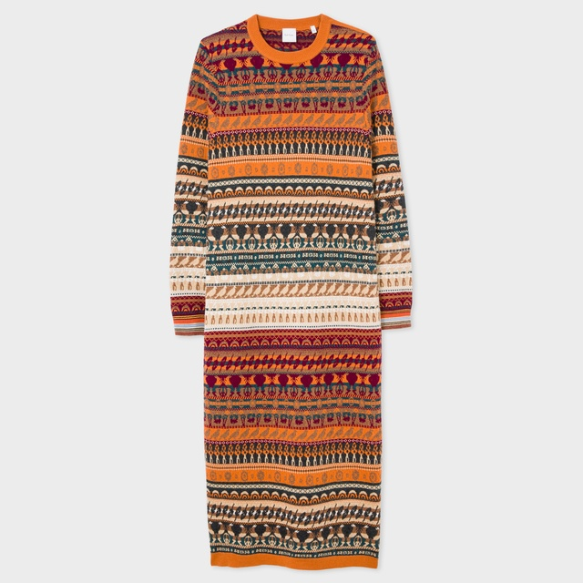 Fair Isle Knitted Dress | Endource