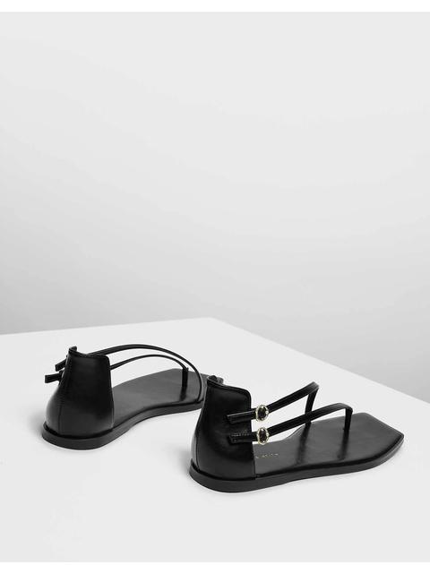 07d0c78b29b9b Asymmetrical Strap Thong Sandals