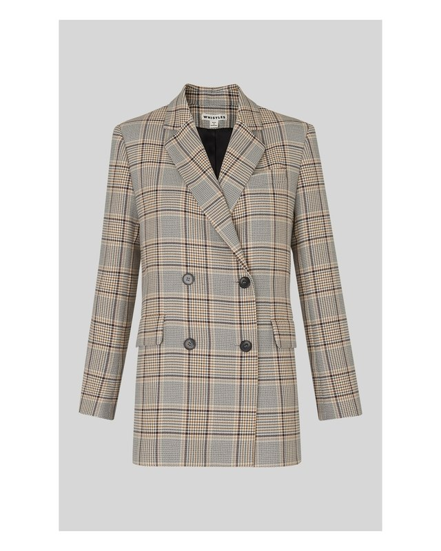 1a675dbbeb8c Check Double Breasted Blazer | Endource