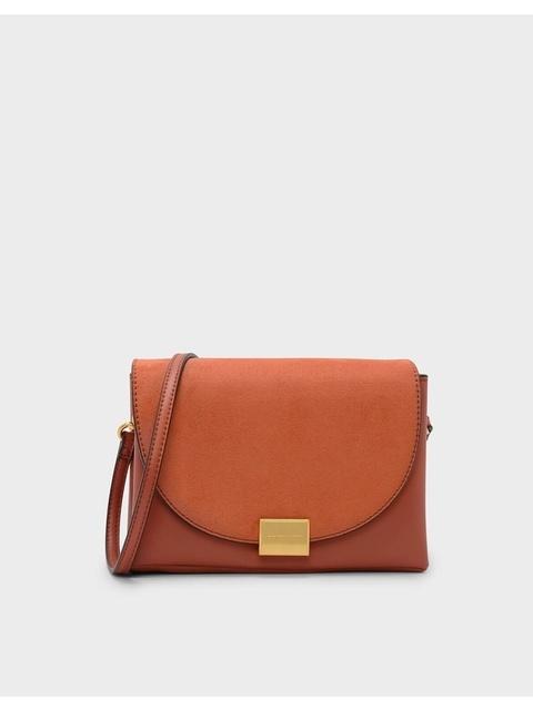 0cf47900102 Front Flap Push-lock Crossbody Bag