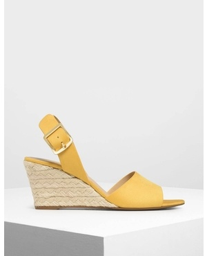 e6eaeb780 Chunky Buckle Espadrille Wedges by Charles & Keith