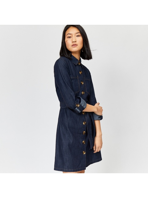 20b55a7e4f46 Belted Denim Shirt Dress | Endource