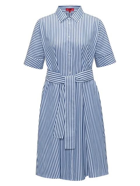 3d622671344 Striped A-Line Shirt Dress
