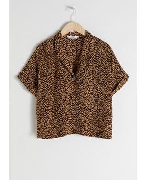 Leopard Print Button Up Shirt by   Other Stories 7e4fdb360