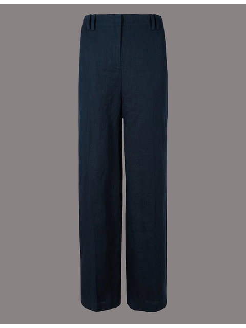 select for official official site noveldesign Linen Wide Leg Trousers