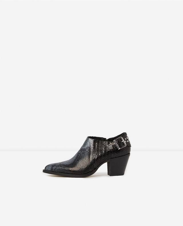 7e3cfb4ab6 Croc-Embossed Ankle Boots | Endource