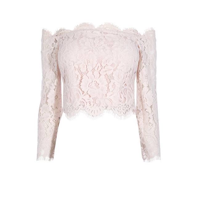 632ef477e2c6ac Marr Lace Bardot Top