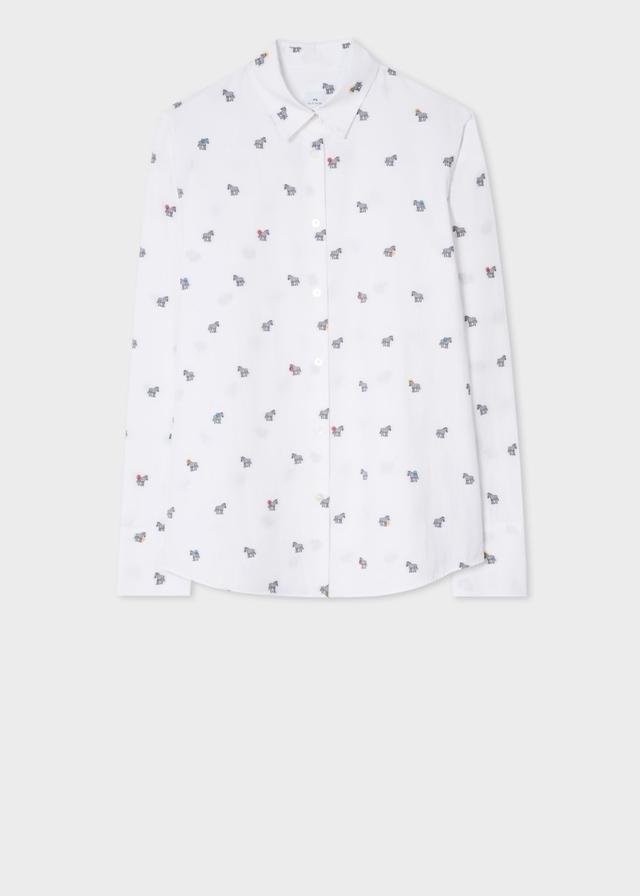 Zebra and polka dot shirt endource for Paul smith doctor who shirt
