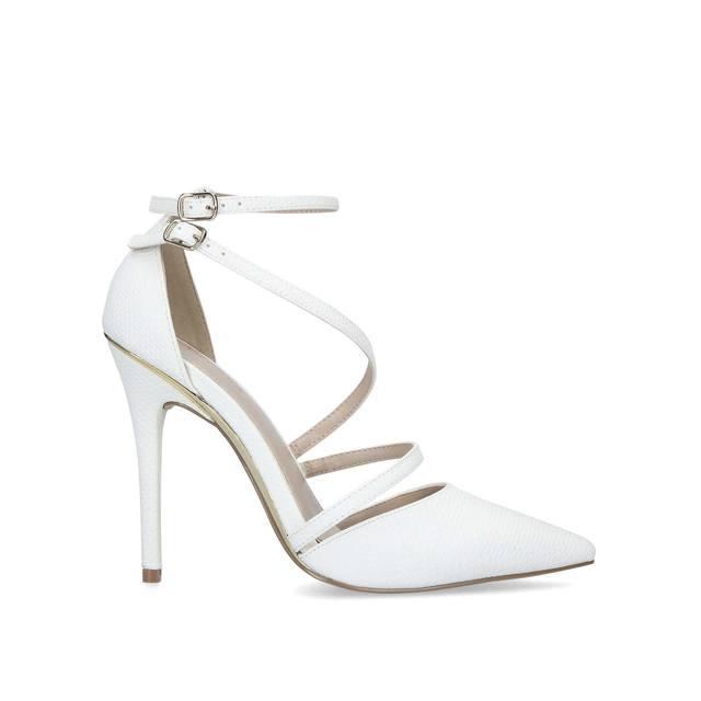 225aeda6536 Krafty Patent Stiletto Heel Court Shoes