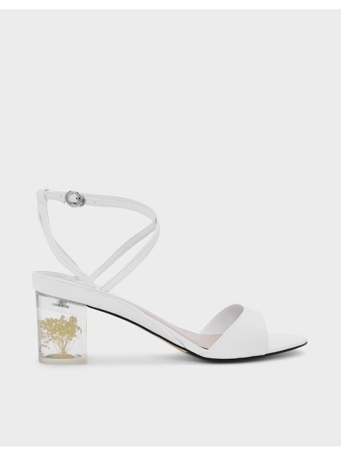 1b283e070c Floral Lucite Heel Sandals | Endource