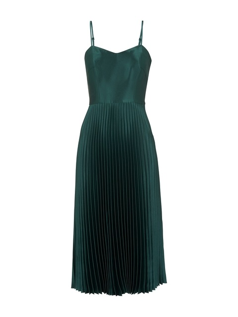 148b55ac5 Satin Pleated Strappy Dress | Endource