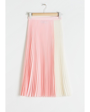 And Other Stories Duo Toned Pleated Skirt