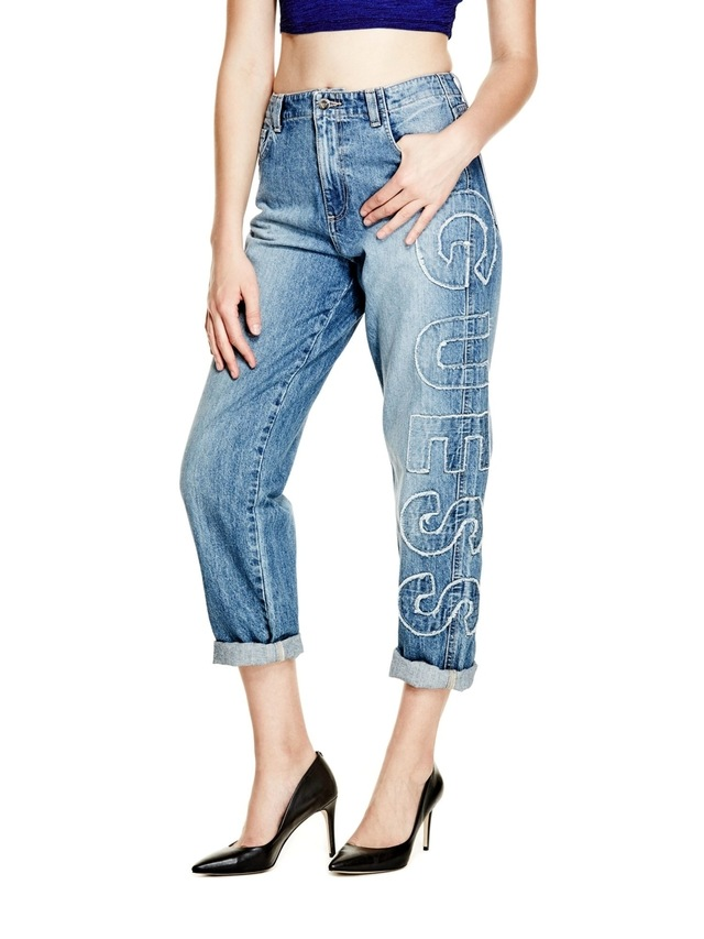 wide selection of designs info for durable service Logo Boyfriend Jeans