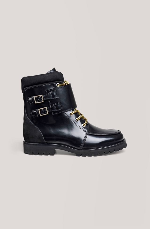 Ganni Dora leather ankle boots hqmVy3aO