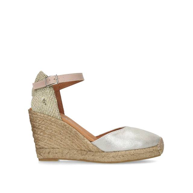 1fcb36fa790 Monty Metallic Espadrille Wedge Sandals