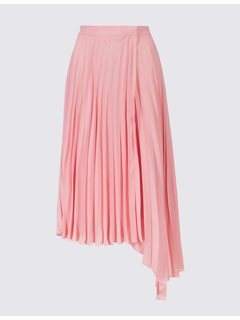 3cc0bffb0 Pleated Asymmetric Skirt   Endource