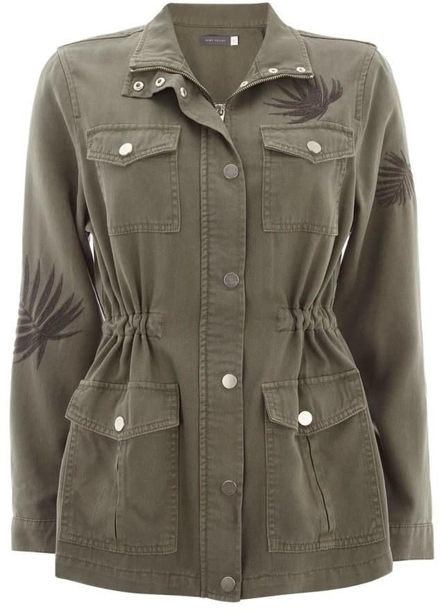 Palm Leaf Embroidered Jacket Endource