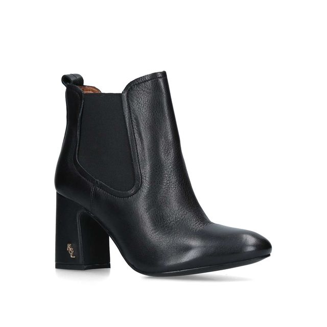 a625fdaa2e97 Raylan Leather Block Heeled Ankle Boots