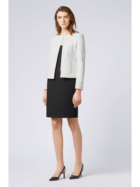 e4a697fb Collarless Slim-Fit Jacket with Asymmetric Front   Endource