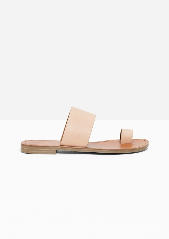 & OTHER STORIES Curved Toe Strap Sandals