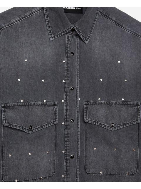 5113d0a92c3 Stud Detailing Denim Shirt   Endource