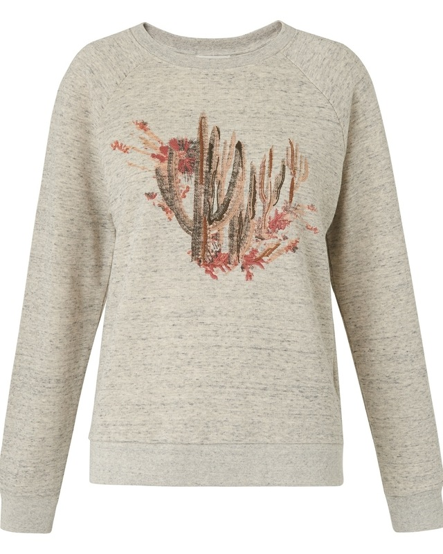 Cactus embroidered sweat endource