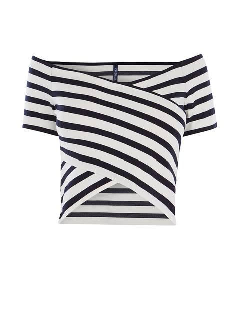 0eb3e356b1b0ec Striped Bardot Top   Endource